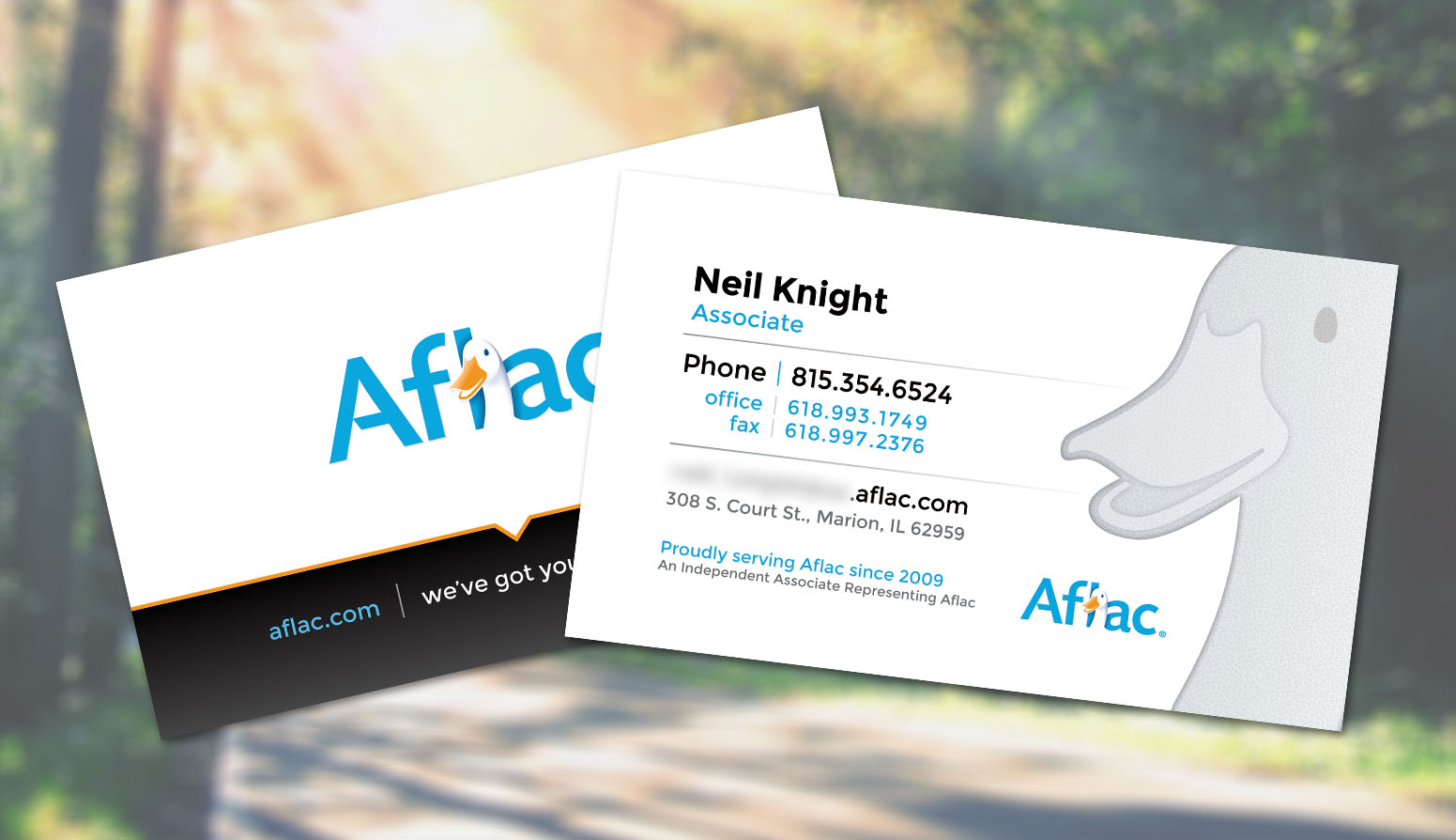 Outstanding aflac business cards adornment business card ideas unique aflac business cards picture collection business card ideas reheart Image collections